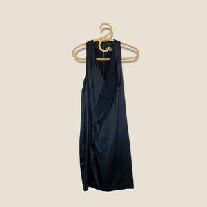Vince | Silky Ruffle Little Black Dress